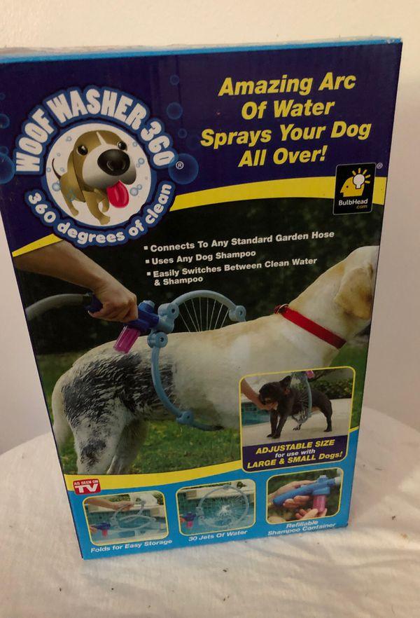 Amazing Arc of Water Sprays for Dog