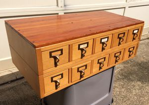 10 DRAWER ANTIQUE LIBRARY CARD CATALOG CABINET for Sale in Roswell, GA