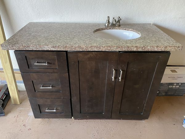 Bathroom vanity 3 feet tall 4 feet wide Granite top for ...