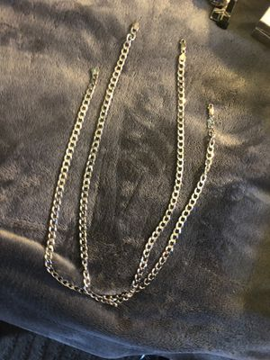 925 Italy real silver Chains one size 22 inches one size 24 inches for Sale in San Diego, CA