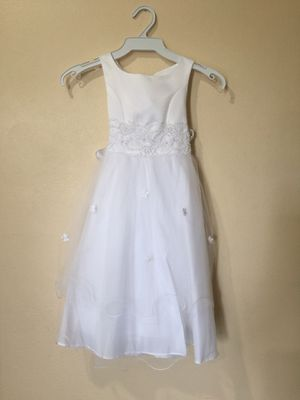 New White Flower Girls Baptism Christening Dress Size 4 for Sale in Hacienda Heights, CA