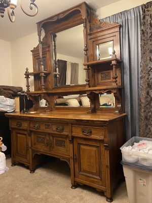 Antique butler pantry cabinet with copper sink 1940 c for Sale in Henderson, NV