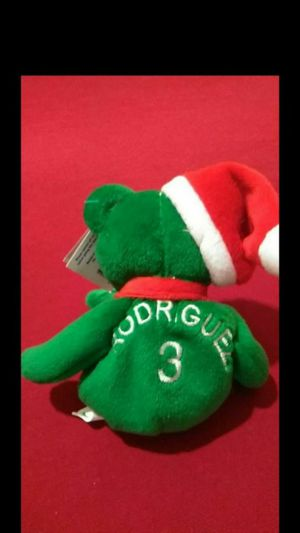 Mint Condition 1998 Salvinos Bamm Beanos Christmas Edition Baseball Bears Alex Rodriguez #3 With Santa Hat for Sale in Portland, OR