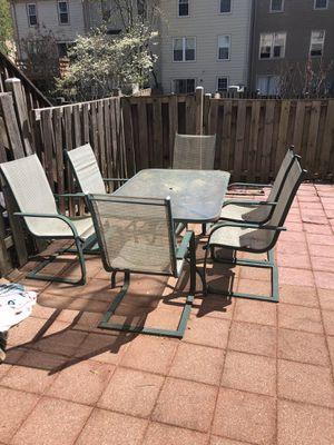 Patio set of 6 for Sale in Fairfax, VA