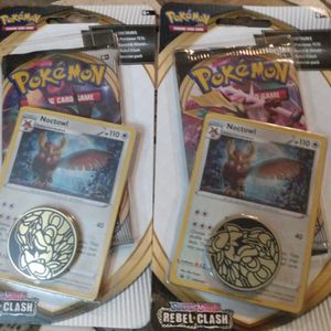 Brand New Pokemon Sword And Shield Rebel Clash Contains 1 Booster Pack 1 Promo Card 1 Coin $7 Each 2For 12 for Sale in Edgewood, FL