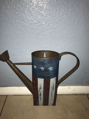 Plant holder Flag metal decoration pick up only Valvista and baseline for Sale in Mesa, AZ