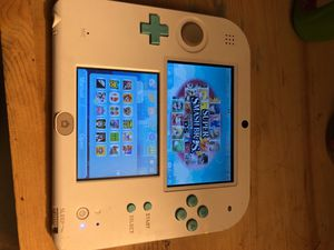 Nintendo 2DS 18 games with charger + 32 GB micro SD card for Sale in San Francisco, CA