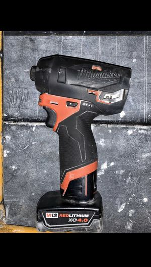 """Milwaukee M12 1/4"""" impact drill for Sale in Oakland, CA"""