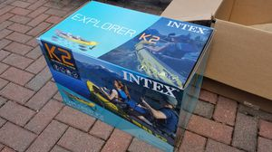 Intex Explorer K2 Kayak 2-Person Inflatable w/ Aluminum Oars and Pump NEW IN HAND! PICK UP for Sale in Leonia, NJ