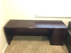 Heavy wood desk for Sale in Boca Raton, FL