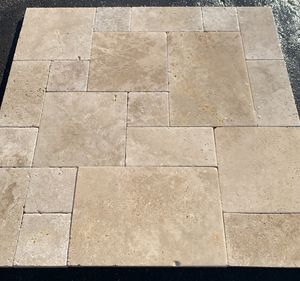 """$3.99 Tuscany Walnut Travertine Versailles Pattern Paver 1 1/4"""" thickness for Sale in Anaheim, CA"""