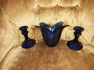 Blue glass for Sale in Abilene, TX
