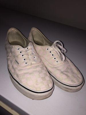 Checkered reflective pink Vans for Sale in Imperial, CA