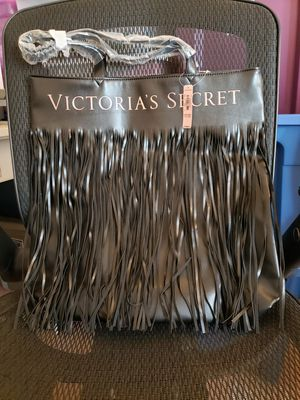 Victoria's Secret Black Fringe Tote Bag- New for Sale in San Diego, CA