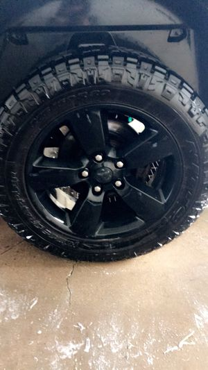 "Stock 20"" Dodge rims with newer tires for trade! for Sale in Wausau, WI"