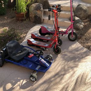 Electric Razor Scooters, Drifter, And Helmets for Sale in Phoenix, AZ