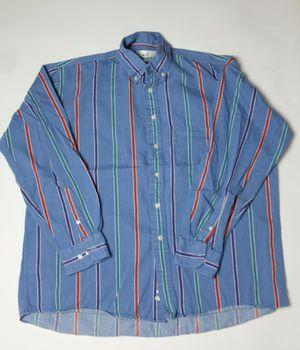 Vintage Van Heusen 1959 417 Denim Striped Button Up Shirt sz XL Extra Large Red Green Blue for Sale in Virginia Beach, VA