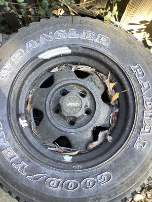 Stock Jeep Wheels from YJ Wrangler for Sale in El Dorado Hills, CA