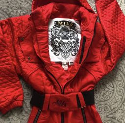 Nils Vintage 80s Fire-Engine Red Ski/Snow Jumpsuit for Sale in New York,  NY
