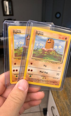 Diglett MISPRINT Pokemon Card with Rotated Energy Symbol for Sale in Litchfield Park, AZ