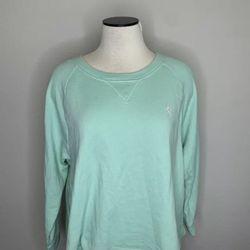 Polo Ralph Lauren Teal Cropped Cut Crewnck Sweatshirt - Women's Size XL for Sale in Katy,  TX