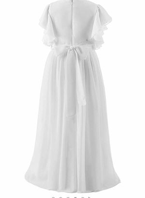 FIRST COMMUNION DRESS AND FLOWER CROWN (white). for Sale in Weston, FL