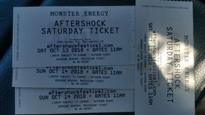 Aftershock weekend for two. for Sale in Chico, CA