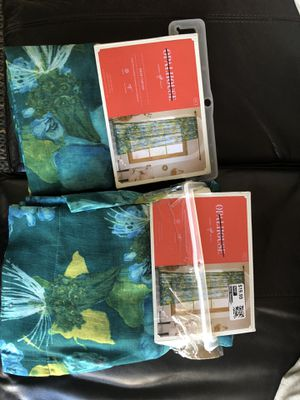 Target opalhouse sheer window curtain panel set for Sale in Ontario, CA