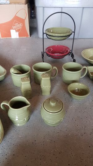 Longaberger Woven Traditions Bakeware Lot , Sage Green for Sale in Plymouth, MA