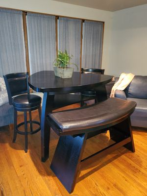 Counter Height Table w/Bench and 2 Swivel Chairs for Sale in Chicago, IL