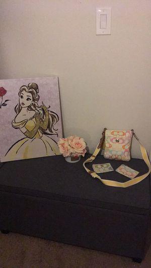 Pastel coach messenger bag & 2 credit card holders for Sale in Hialeah, FL