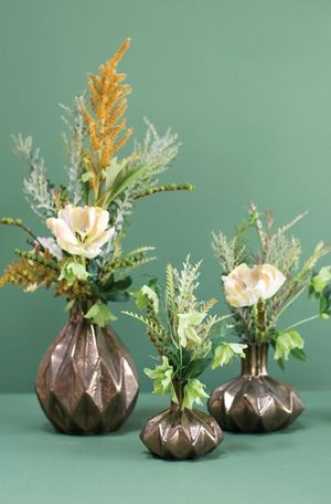 Set of 3 Bronze/Copper Sculpture Vases (small, medium, large) for Sale in Knoxville, TN