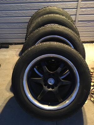 """Snow tires and wheels 15"""" rims for Sale in Wenatchee, WA"""