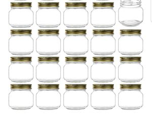 Encheng 8 oz Glass Jars With Lids,Ball Wide Mouth Mason Jars For Storage,Canning Jars For Caviar,Herb,Jelly,Jams,Honey,Dishware Safe,Set Of 23 for Sale in Bakersfield, CA