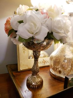 Silver Mercury Glass Pedestal Bowl Centerpiece Vases (Set of 5) for Sale in Deerfield Beach,  FL