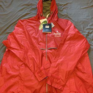 Coca cola waterproof raincoat for Sale in Eliot, ME