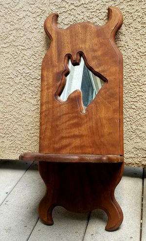 Vintage Solid Wood 2ft Horse Mirror Wall Shelf for Sale in Colorado Springs, CO