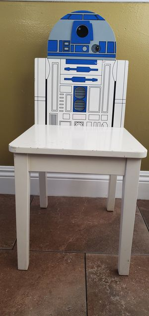 Pottery Barn Star Wars R2D2 White Blue Gray Kids Chair $38.00 for Sale in Gardena, CA