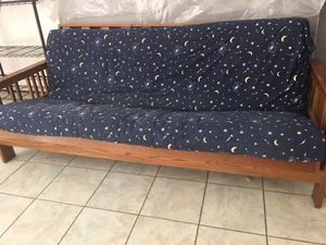 Wooden futon for Sale in Gaithersburg, MD