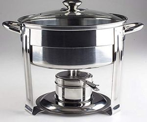 Living Home 5qt Silver Chafing Dish for Sale in West Palm Beach, FL