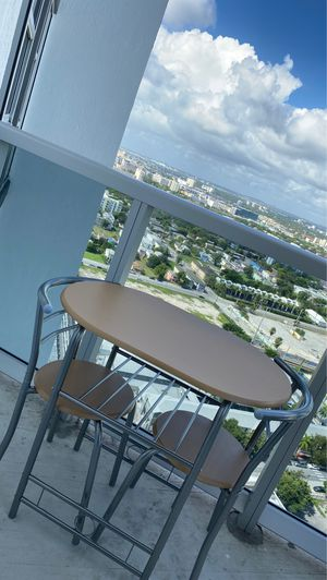 3 Piece Wooden Round Table And Chair Set for Sale in Miami, FL