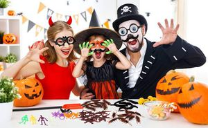 (Brand New)Halloween Prizes, Halloween Party Favors Supplies 110 pcs, Joke Toys Fake Bugs Bat Ring,Decoration Bulk Kits, Treasure Chest for Sale in Duluth, GA