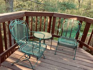 Set of 2 Wrought Iron Chairs for Sale in Centreville, VA