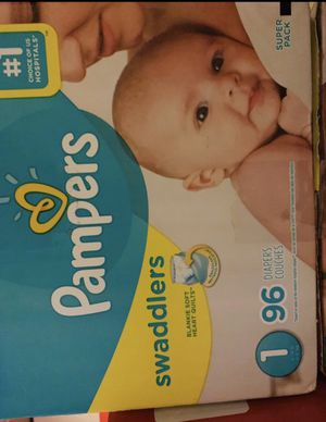 Pampers diapers/pañales size 1 Swaddlers for Sale in Downey, CA