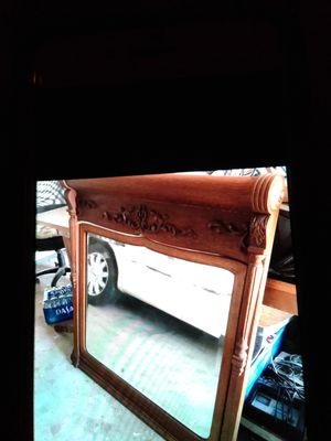 Antique dresser with morror for Sale in Huntington Beach, CA