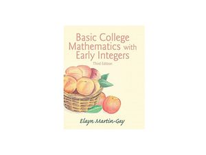 Basic college mathematics with early integers for Sale in El Mirage, AZ