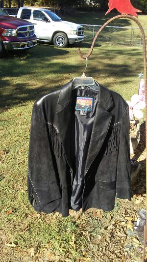 Women's Fringe leather jacket medium for Sale in Stanley, NC