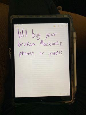 Will buy broken MacBooks, iPhones or iPads for Sale in Columbus, OH