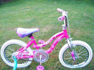 """Like New 16"""" Barbie Girls Bike with Training Wheels for Sale in Everett, WA"""