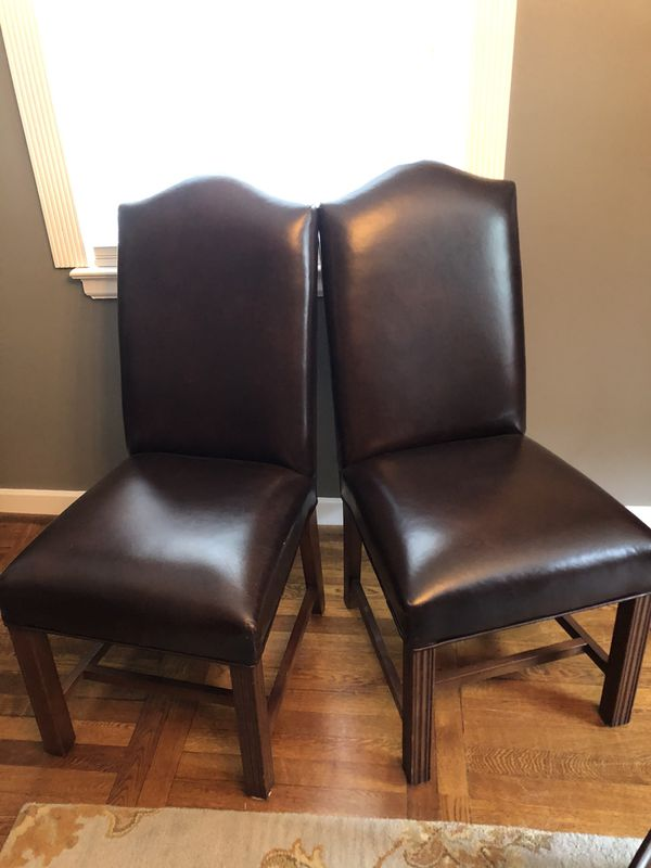 Leather chairs in perfect condition ($25 each)